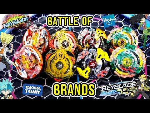 BRANDS BATTLE HASBRO Vs TAKARA TOMY- Turbo Slingshock VS Chozetsu Beys-BEYBLADE BURST:TURBO VS CHO-Z