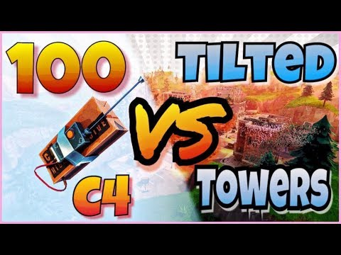 100 C4 VS TILTED TOWERS  (Playground LTM + Reaction) Fortnite Experiments