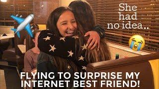 Flying To Surprise My Internet Best Friend || Brooke Sanchez