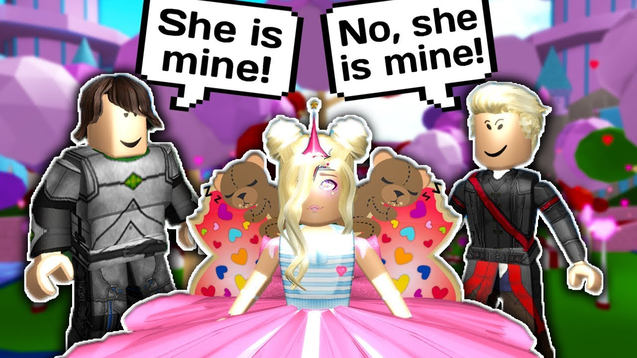 I MADE THEM FIGHT FOR ME? // Roblox Royale High School // Finding My  Valentine // All the WIngs