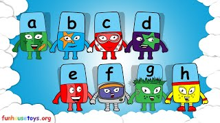 New Alphablocks Letters A, B, C, D, E, F, G, and H Coloring for Kids and Toddlers!