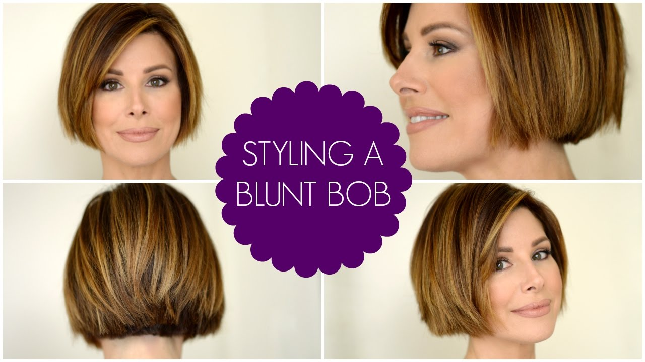 how to style short hair bob how to style a blunt bob 4404 | maxresdefault