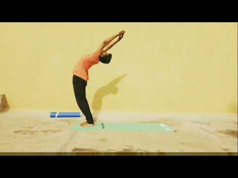 sun salutation 🙏suryanamaskar 🕉️  12 step  first inhale