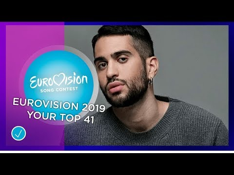 Eurovision 2019; your top 41 (YouTube users - 487 tops included)