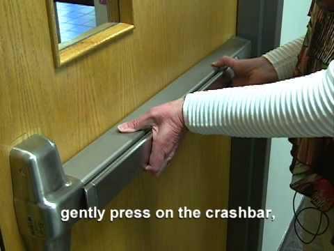 Locking Crashbar Doors