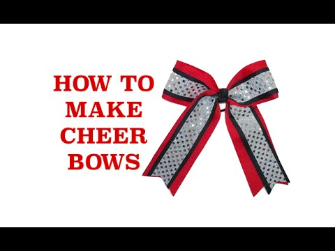 How to Make Cheer Bows - How to Make Cheerleading Bows - Hair Bows ...