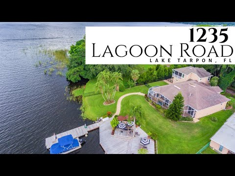 LAKE TARPON HOME FOR SALE: 1235 Lagoon Rd Tarpon Springs, FL 34689