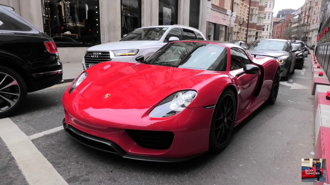 4ebd9a9a299a London SuperCars April 2018 - Red Porsche 918