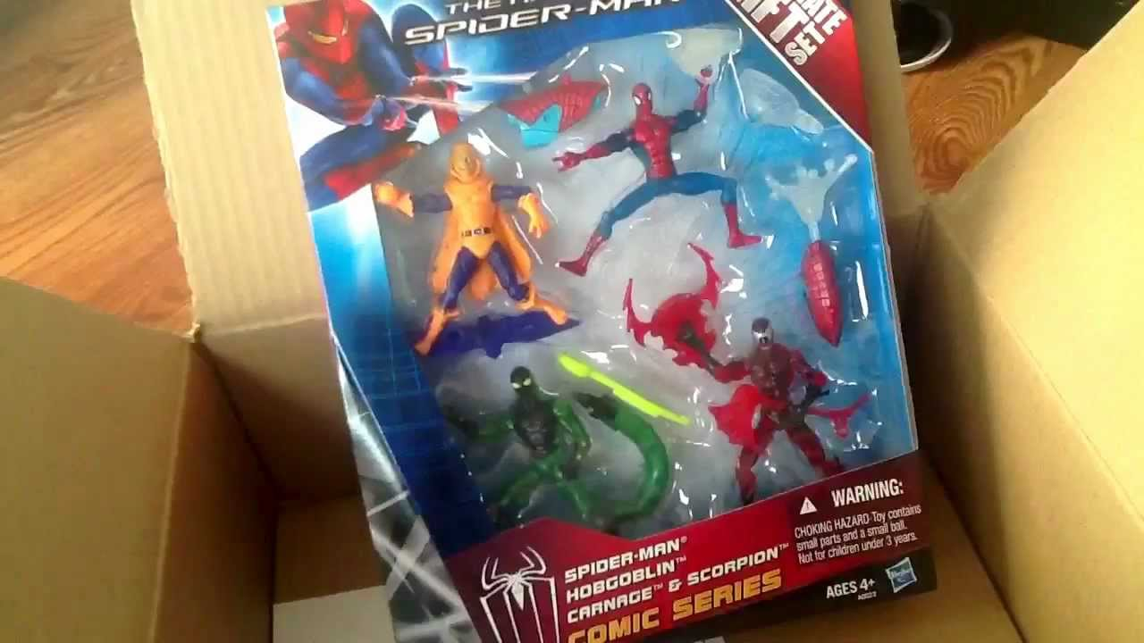 "Marvel The Amazing Spiderman Ultimate Gift Set 4/"" Inch Hobgoblin Action Figure"