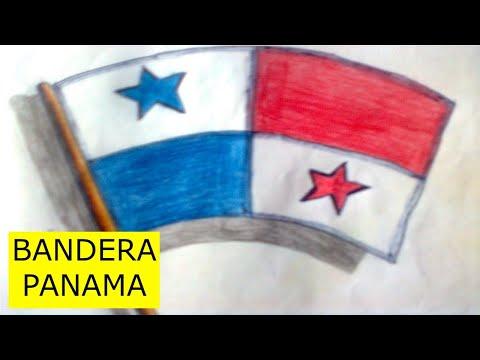 Como dibujar la bandera de panamá - YouTube