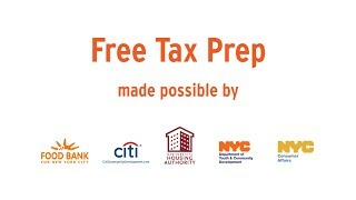 Free Tax Prep for NYCHA residents and Section 8 voucher holders. Take advantage of it today!