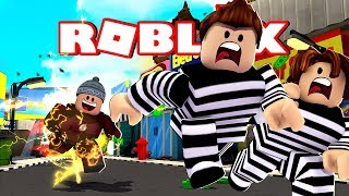 POLICE and THIEF WITH HEROIS-MadCity Roblox