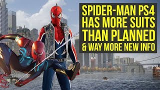 Spider Man PS4 Has MORE SUITS Than Planned, Suit Powers Change & More News! (Marvels Spiderman PS4)