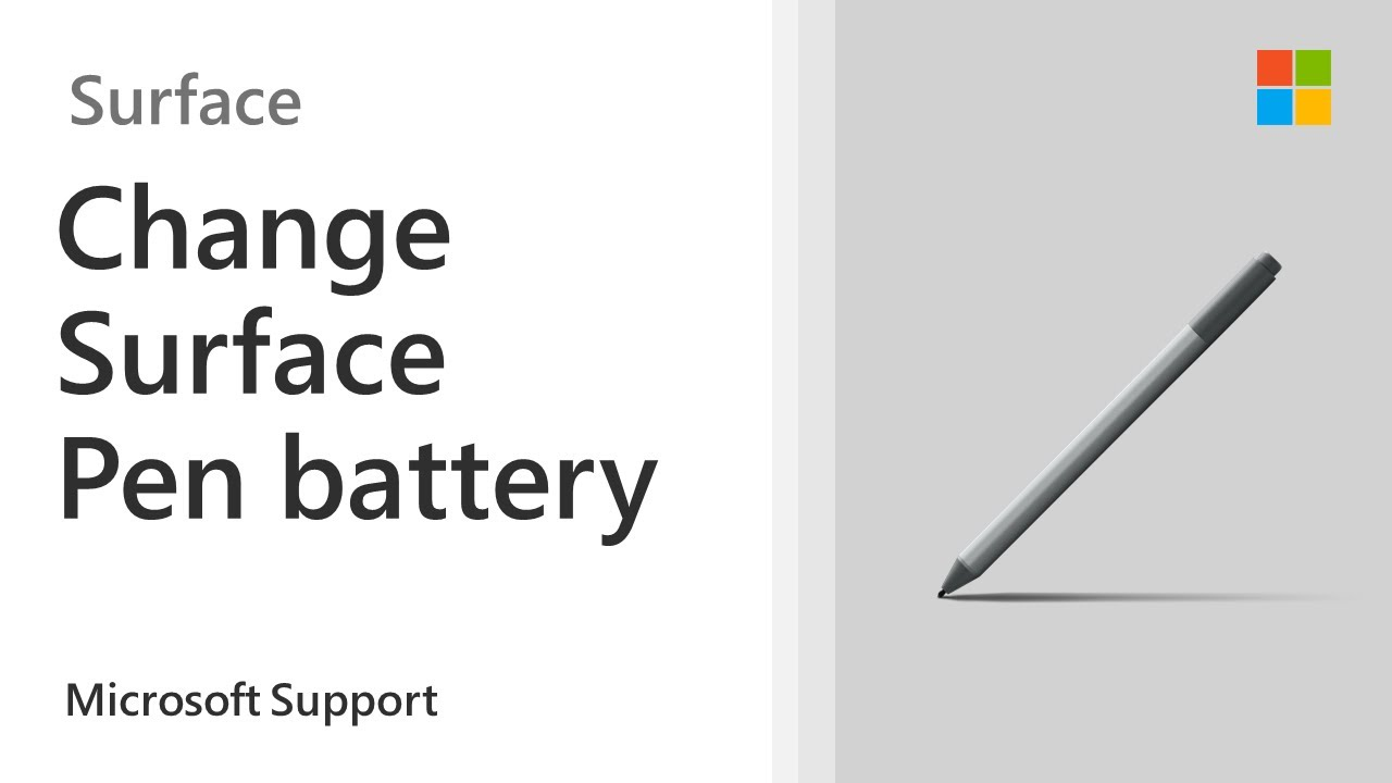 How to change the battery on your Surface Pen with no clip   Microsoft