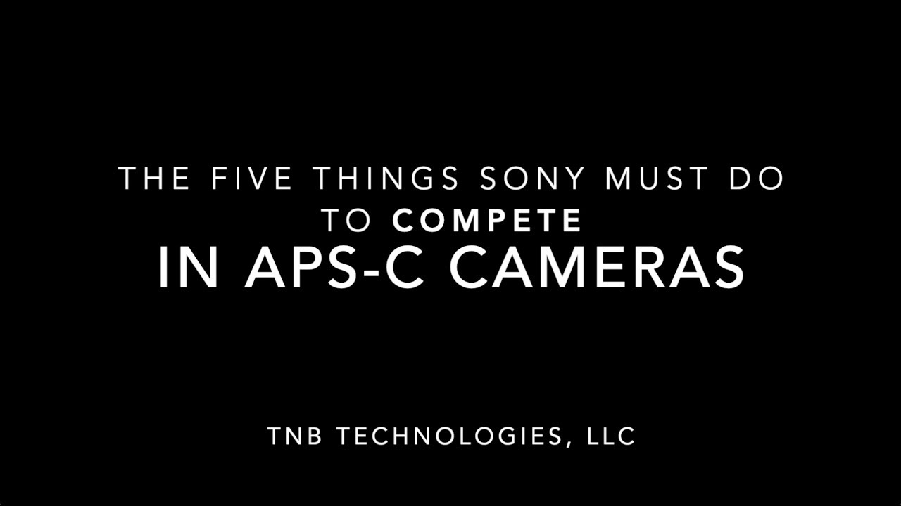 Is Sony About to Announce an APS-C Version of the a9