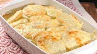 Papas al horno con crema - Baked Potatoes with Cream