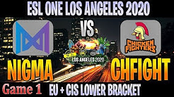 Nigma vs ChFight Game 1 | Bo3 | Lower Bracket EU + CIS ESL ONE LOS ANGELES | DOTA 2 LIVE | NO CASTER