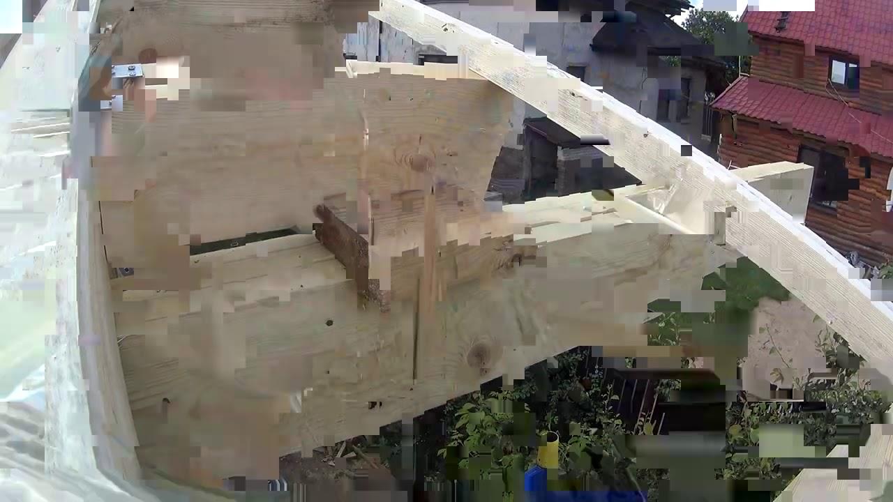 Как собирать крышу над верандой СИП дома #748
