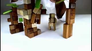Wooden Building Blocks From Tegu - Watch To Learn How To Build Tarzan And Jane