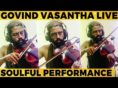 video:-govind-vasantha's-live-heart-melting-performance!-mesmerizing-melody!-goosebumps-guaranteed!🔥