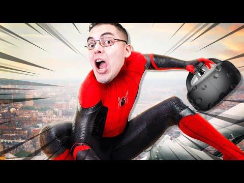 Sou O Homem Aranha De HOMEM-ARANHA LONGE DE CASA Em Realidade Virtual E é INCRÍVEL!