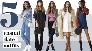 5 Casual Date Outfits + Look Book