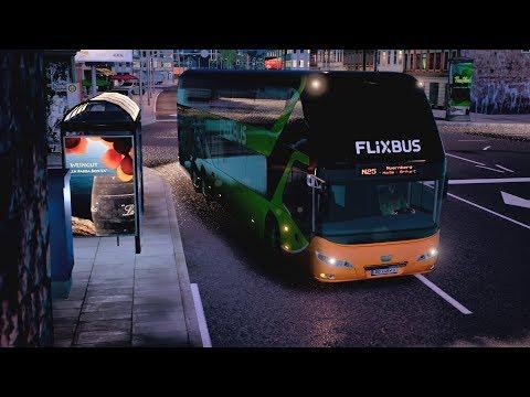 LET`S PLAY Fernbus Simulator / Unterwegs mit dem Neoplan Skyliner / Leipzig-Nürnberg