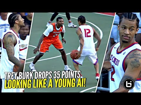 Trey Burke Gets Heckled & Responds W/ 35 POINTS Looking Like A Young Allen Iverson At Dyckman!