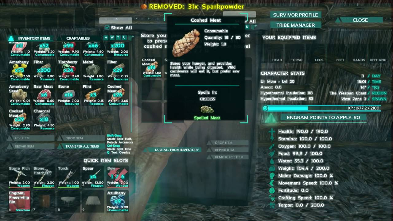 How To Make Items Spoil Less Frequently Ark Survival Evolved