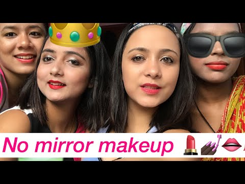 NO MIRROR MAKE-UP CHALLENGE