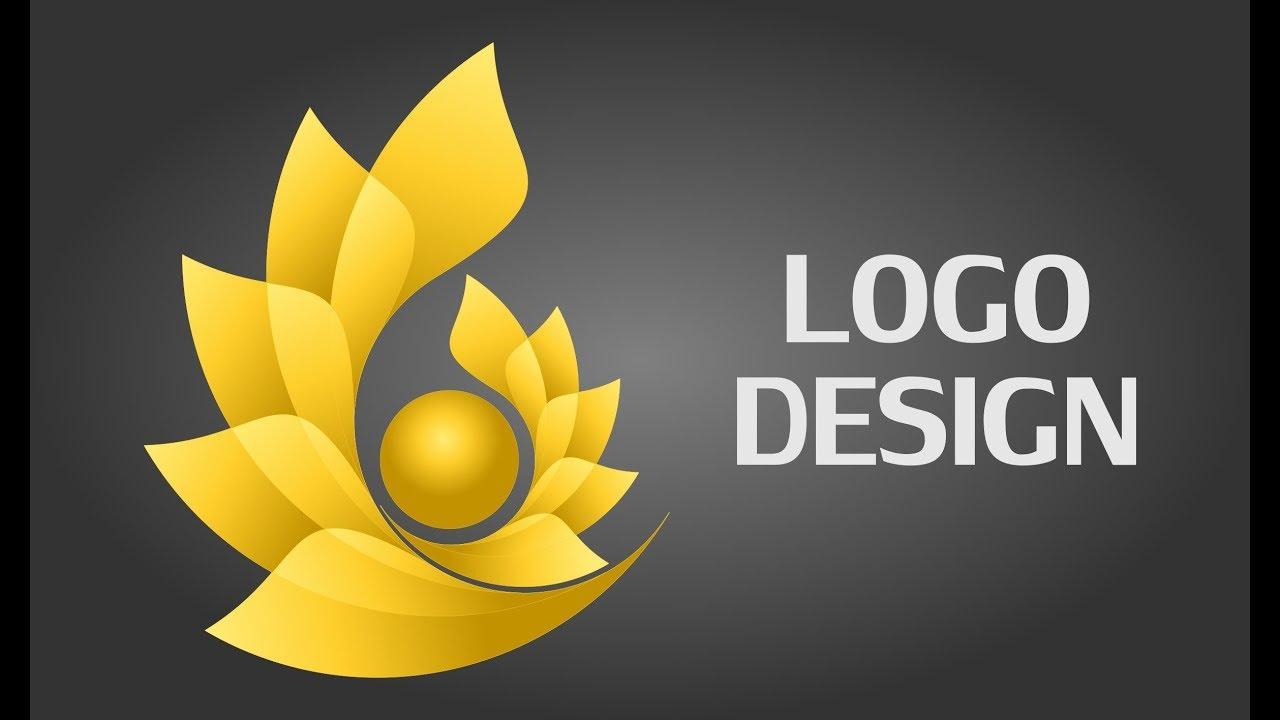 Flower Logo Design Tutorial Logo Design In Coreldraw Youtube