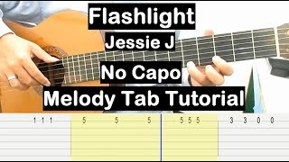 Flashlight Guitar Lesson Melody Tab Tutorial No Capo Guitar Lessons for Beginners