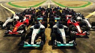 f1 2016 cars in gta v all 22 cars in the game gta v f1 2016 add on mod pack
