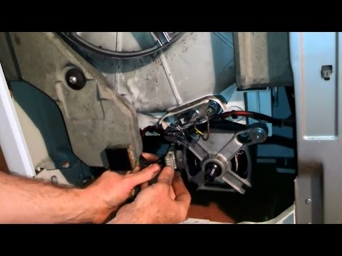 Меняем щётки двигателя стиральной машины - YouTube