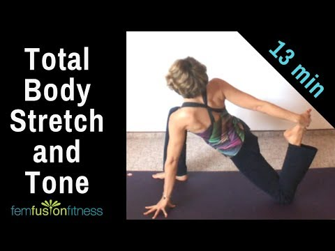 FAST Full Body Stretch, Strengthen, & Tone 🌼 13-Minute Yoga Workout