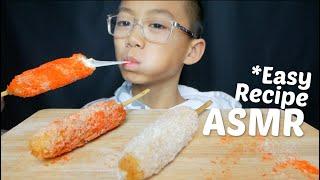 Mozzarella Corn Dog *Easy Recipe ASMR Mukbang *No Talking Eating Sounds | N.E Let's Eat