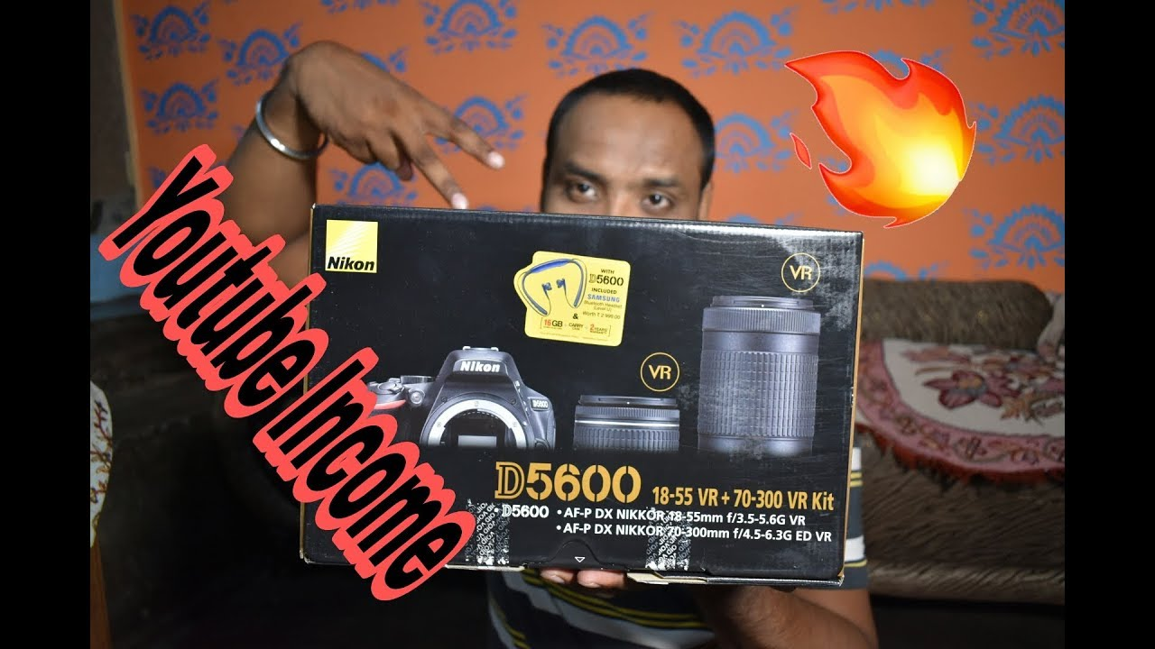 My first DSLR Unboxing and review Nikon D5600