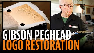 Restoring a Gibson peghead logo with a frisket ギブソン 検索動画 42