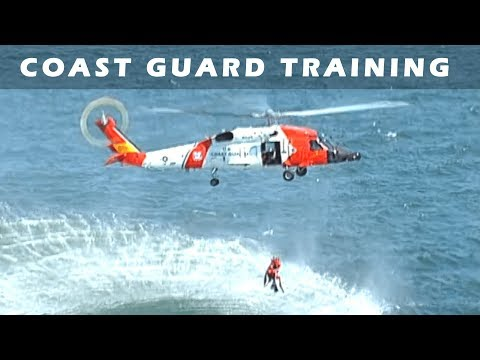 Coast Guard Helicopter Water Rescue Training