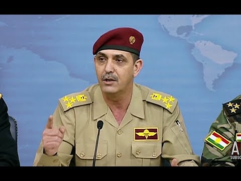 MOSUL: 7-19-17. Iraqi Security Forces General Answers American Media Questions At Press Brief.