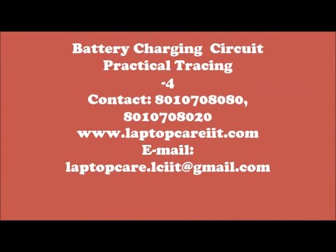 Laptop Battery Charging Circuit Practical Tracing at LCIIT online laptop repair training