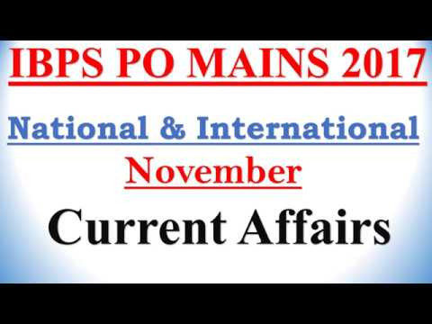 "November ""National & International"" current affairs  2017 