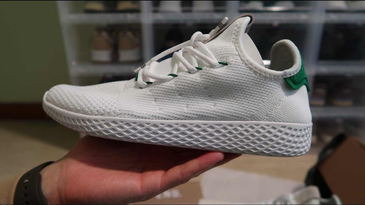 adidas x pharrell williams tennis hu white green sneaker. Black Bedroom Furniture Sets. Home Design Ideas