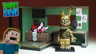 Five Nights at Freddy's fnaf SPRINGTRAP Security Office McFarlane toys construction set unboxing