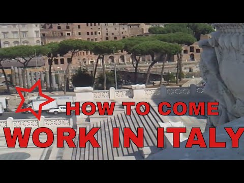 HOW TO COME AND WORK IN ITALY