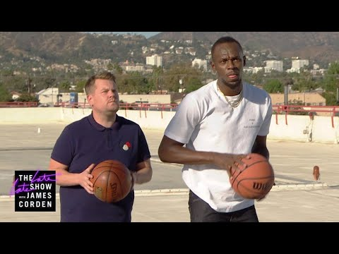 James Corden Challenges Usain Bolt to ALL the Games