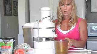 Juicing Healthy Energy Drinks Carrots & Garlic