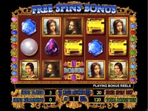 Da Vinci Diamonds® Video Slots by IGT - Game Play Video