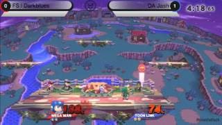Smash Attack 3 - SSB4 Singles - FS Darkblues (Mega Man) vs DA Jash (Toon Link)