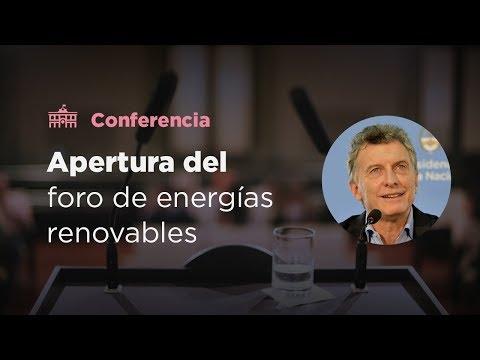 El presidente Mauricio Macri abrió un foro del G20 sobre energías renovables
